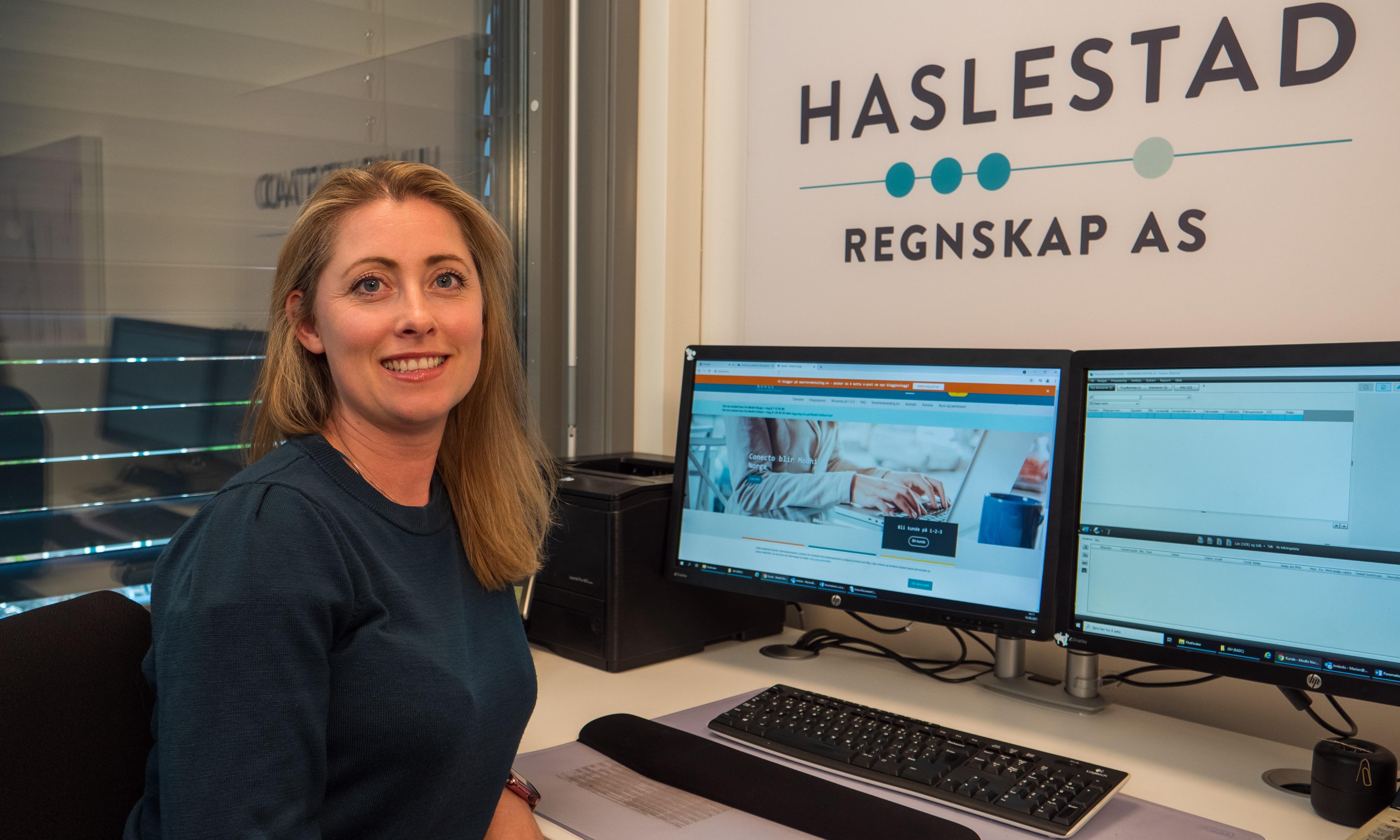 Marion Arnesen benytter integrasjonene fra Modhi hos Haslestad Regnskap